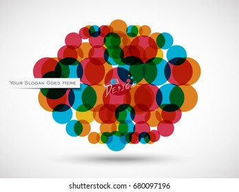 Abstract colorful with circle vector background illustration EPS 10...