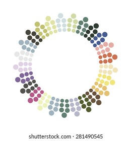 Abstract colorful circle. Vector design element.