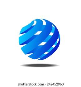 Abstract colorful circle vector logo template