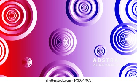 abstract colorful circles background with gradient color - vector\n