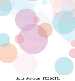 Abstract colorful  circles  pattern background. overlapping muticolor circles.