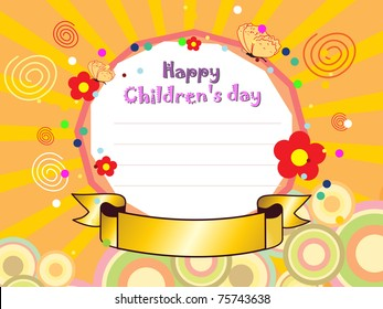 abstract colorful creative artwork background for children's day celebration