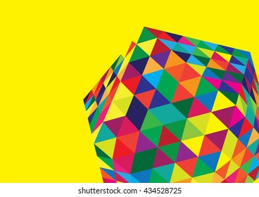 Abstract colorful and creative geometric with hexagonal geometric pattern background. Vector illustration.