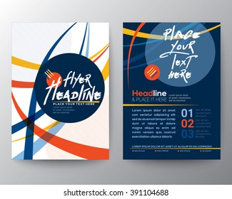 Abstract Colorful Curved Line shape Asian or Japanese style background design for Poster Brochure Flyer design Layout. Vector template in A4 size