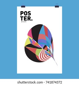 Abstract  Colorful Curvy Liquid Cover and Poster Design Template. Flat Line Shape and Pattern Layout Design Template.
