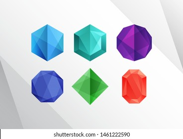 Abstract Colorful Diamond Logo Shapes