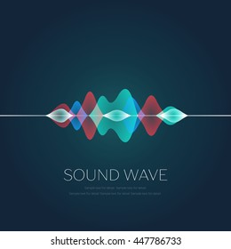 Abstract colorful digital sound wave.
