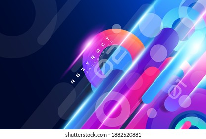Abstract Colorful Dinamic Shapes Wallpaper Background