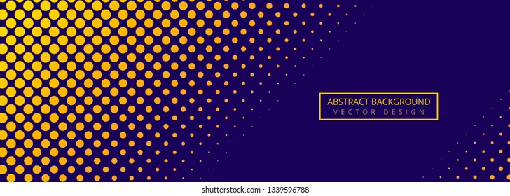 Abstract colorful dotted banner background