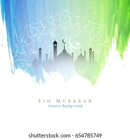 Abstract colorful Eid Mubarak background