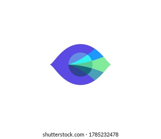 Abstract colorful eye sight logo design vector template.Creative ophthalmology vision sight logotype concept icon isolated on white background.