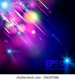 Abstract colorful festive bokeh background.  Vector illustration