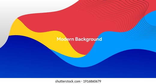 abstract colorful flat wave muticolor background