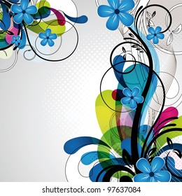 an abstract and colorful floral design for any use