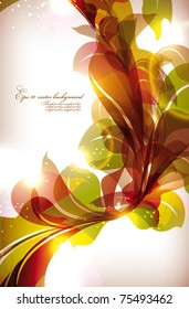 Abstract colorful flovers vector background