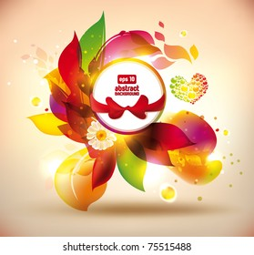 Abstract colorful flovers vector banner