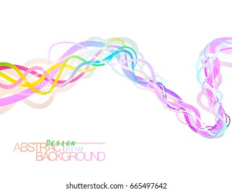 Abstract colorful flow on a white vector wallpaper background