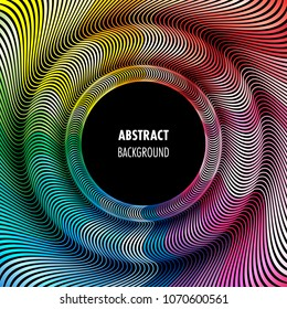 Abstract colorful futuristic wavy background with space for text. Vector Illustration