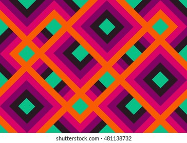 Abstract colorful geometric background with lines and rhombus