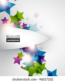 Abstract colorful geometric background - stars