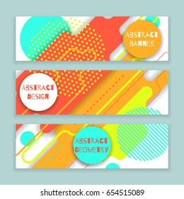 Abstract  colorful geometric banner, vector design with rounded corners