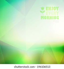 Abstract colorful geometric blur background. Vector illustration
