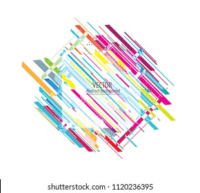 Abstract colorful geometric isometric background