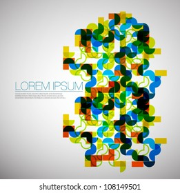 Abstract colorful geometric ornament. Eps10 vector art background