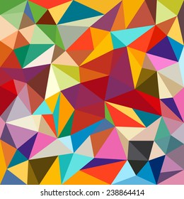 Abstract colorful geometrical background - Vector