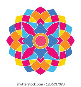 abstract colorful geometrict patern, islamic patern