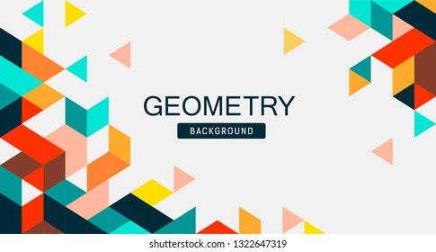 Abstract Colorful Geometry banner design, vector illustration