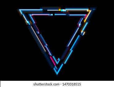 Neon Triangle Images Stock Photos Vectors Shutterstock