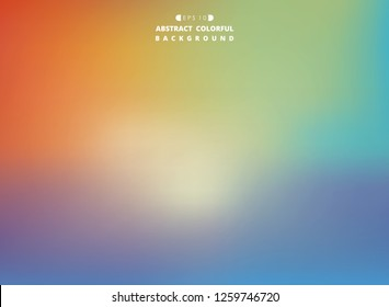 Abstract of colorful gradient mesh background, vector eps10