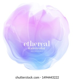 abstract colorful gradient smoke.  ethereal purple blue on white background. eps 8
