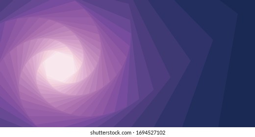 Abstract colorful hexagon dynamic shape vector design template vortex twist cyclone with step color gradient effect background