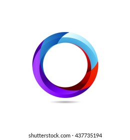 Abstract Colorful Icon. Modern Logo Design. Vector Illustration. Letter O. App Icon Concept