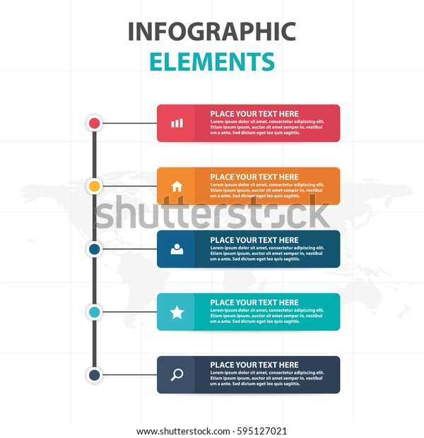 Abstract colorful label business Infographics elements, presentation template flat design vector illustration for web design marketing advertising