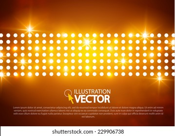 Abstract colorful light background.  Vector illustration