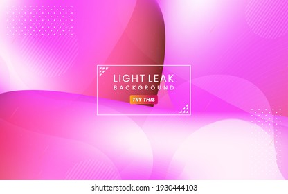 Abstract Colorful Light Leak Background. Modern Dynamic Background Usable for Greeting Card, Banner, Landing Page, Presentation Background, Etc.