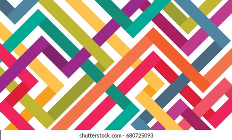 Abstract Colorful Lines Connection,Vector Background
