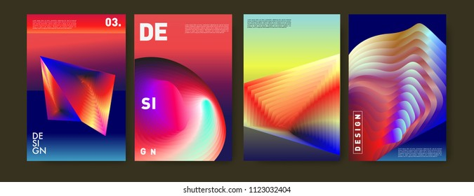 Abstract colorful liquid and fluid colors background for poster design. Blue, yellow, red, orange, pink and green. Vector banner poster template in Eps10.