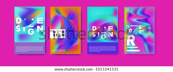Abstract Colorful Liquid Holographic Colors Background Stock