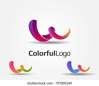 abstract colorful logo icon element