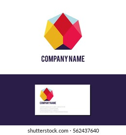 Abstract colorful logo,Identity for company, web site logotype and much more. Geometric low polygon style.