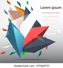 Abstract colorful modern Business Concept on gray background, vector illustration