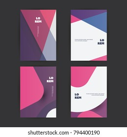 Abstract Colorful Modern Style Patterned Cover Design Set - Applicable for Banners, Placards, Posters, Flyers - Creative EPS10 Vector Template