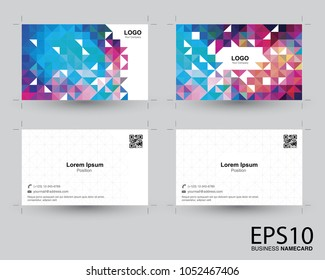 Abstract colorful namecard template background.