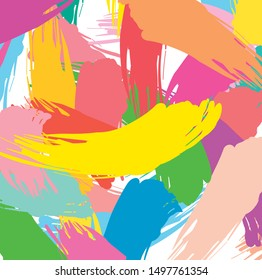 Abstract colorful paint brush and strokes, scribble pattern background. colorful nice brush strokes and hand drawn background