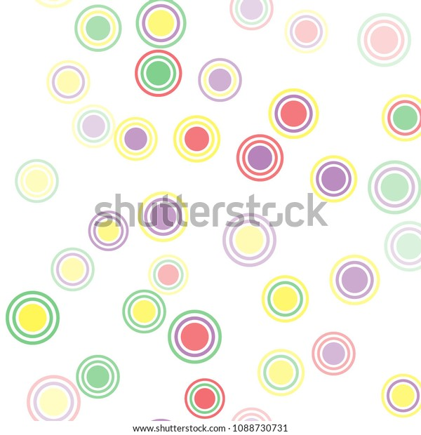 Abstract Colorful Pattern Circles Geometry Pattern Stock