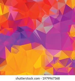 Abstract colorful polygon texture background
